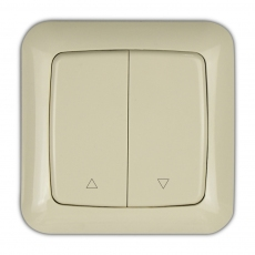 55K - Karat Shutter switch with up/down marks-Ivory