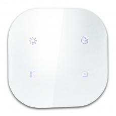 82Z zHouseTouch无线遥控智能4情景控制面板,白色玻璃