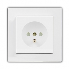 Face Single French Socket-White