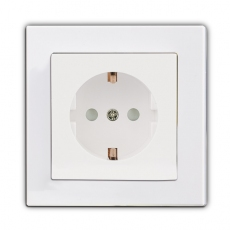 Face Single Schuko Socket-White