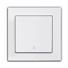 55F-Face doorbell switch, 55mm Panel-White