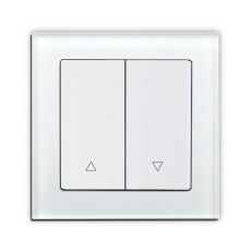 Face Glass Shutter Switch with up/down,55 panel-White glass frame