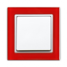 55FT- Fortune Single Switch with RED Glass Frame,55 panel