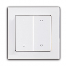 Face Shutter Switch with up/down/stop icon, 55mm Panel-White