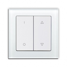 Face Glass Shutter Switch with up/donw/stop,White glass frame