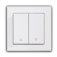 Face Shutter Switch with up/down-White