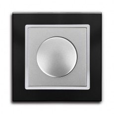 55FT - Fortune Dimmer Switch with Black Glass Frame,55 panel