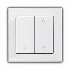 Face Shutter Switch with up/down/stop icon, 55mm Panel-Silver