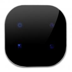 82ZG Smart zRoom 4 scene controller EU,Black Glass