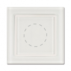 55FT - Fortune Dimmer Switch with White Glass Frame,55 panel