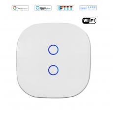 丰度AI 智能音箱WiFi触摸双开开关 82Z-白色