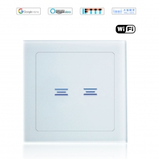 Wintop AI Wi-Fi Smart Light Wall Touch Double Switch Neutral Wire Required eHouse  63T Design white
