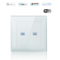 Wintop AI Wi-Fi Smart Light Wall Touch Double Switch Neutral Wire Required eHouse  55F Design white