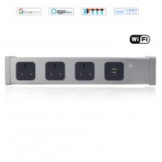 丰度AI智能音箱WiFi英标排插-3BS+2USB