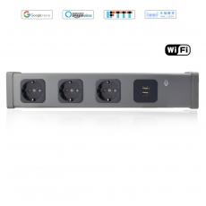 豐度AI智能音箱WiFi德標排插-3SK+2USB